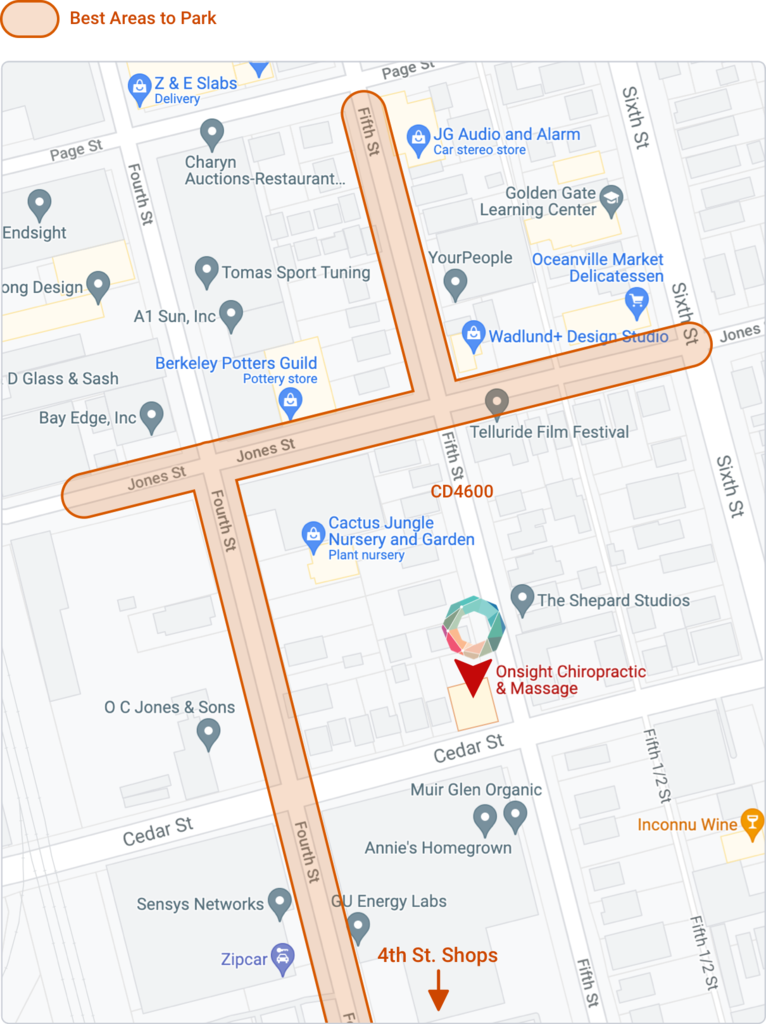 Parking Info and Map